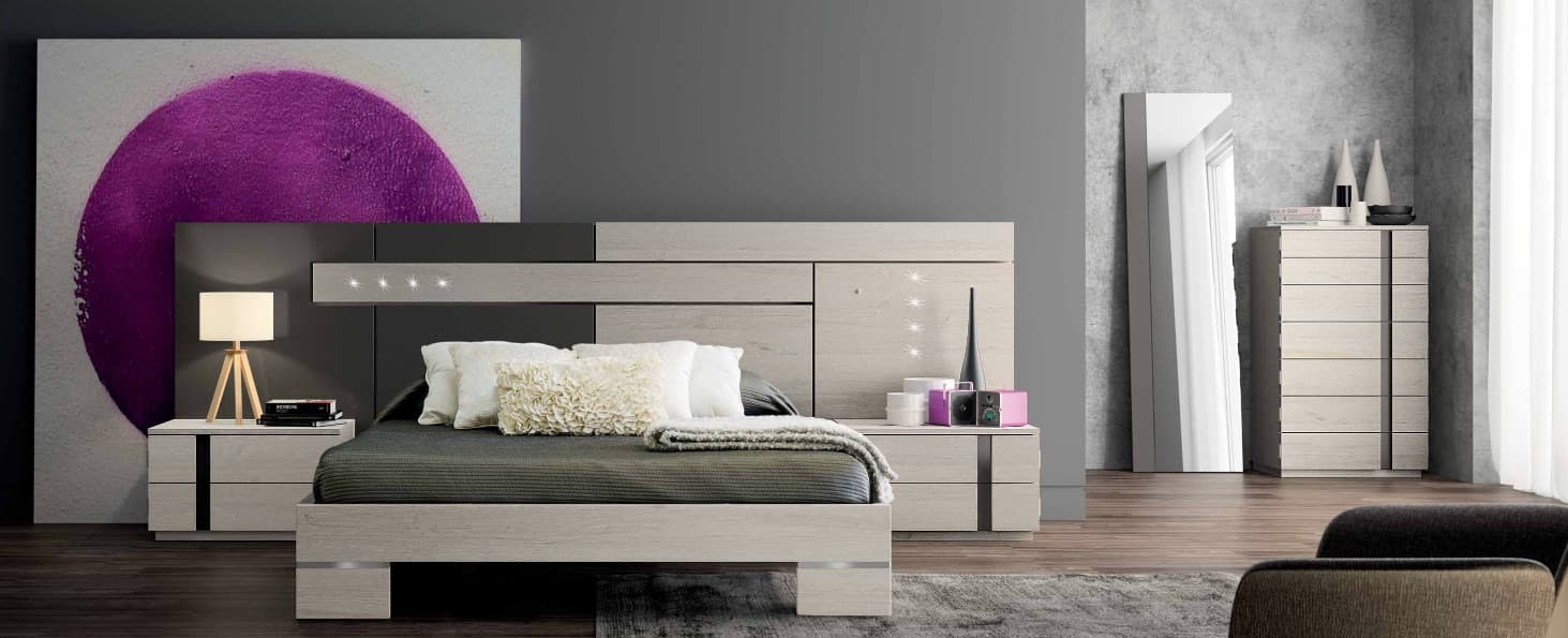 chambre lit rectangle ambiance bois zen lit adulte design avec chevets personnalisable. Black Bedroom Furniture Sets. Home Design Ideas