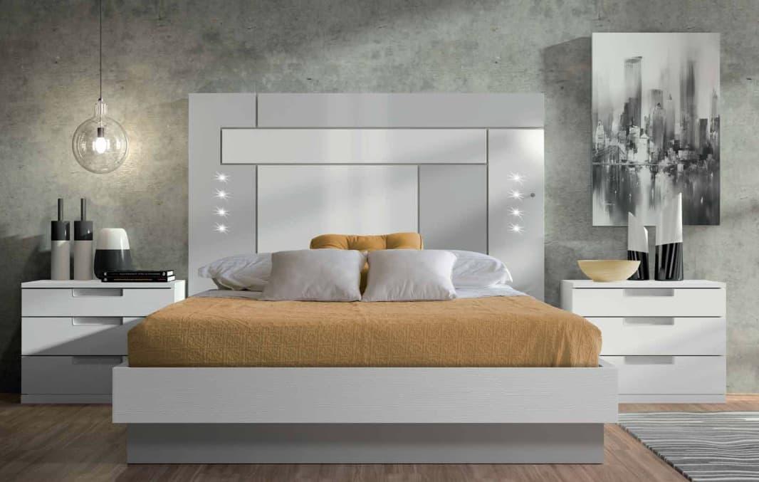 chambre lit rectangle ambiance bois zen lit adulte design avec chevets personnalisable. Black Bedroom Furniture Sets. Home Design Ideas
