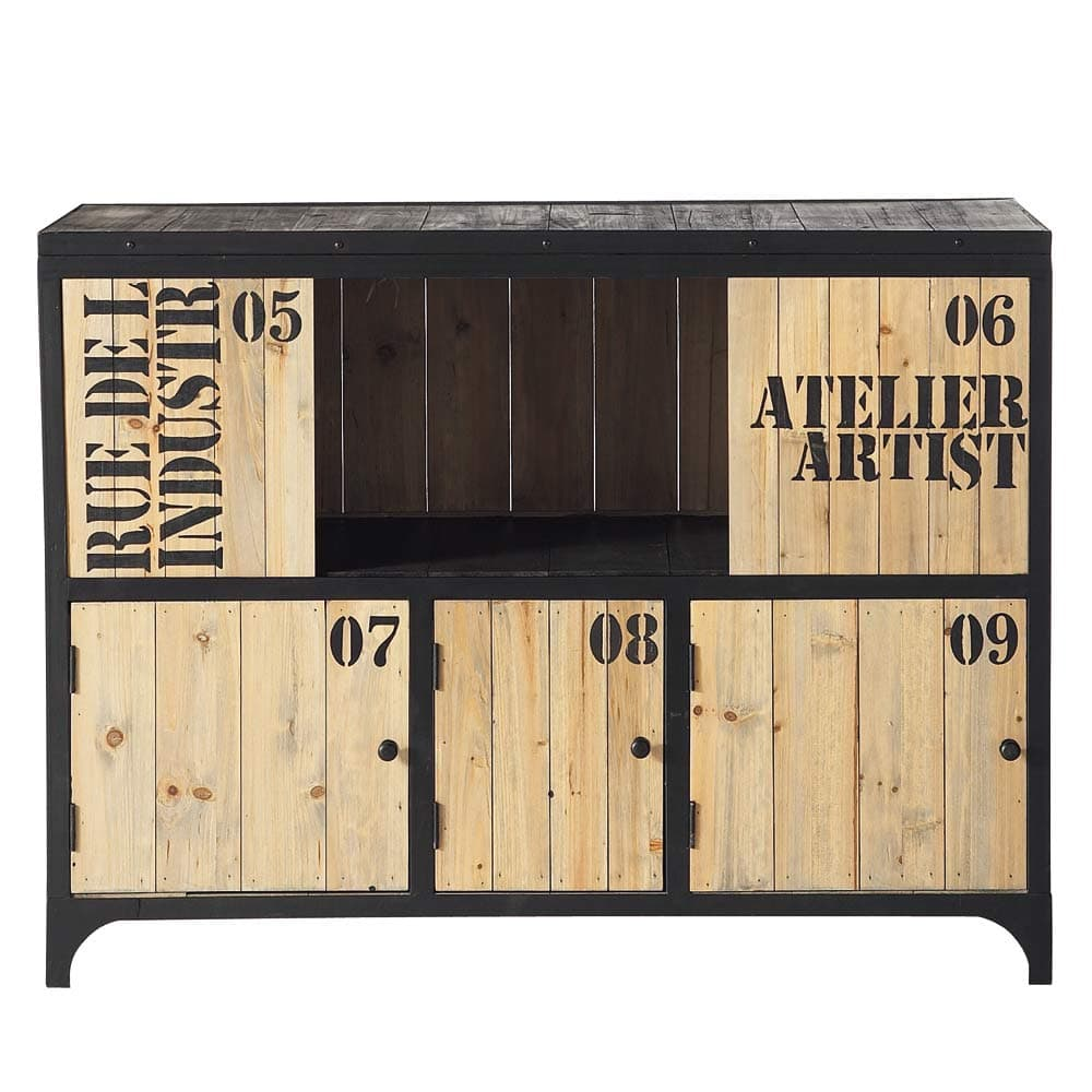 Mobilier industriel meuble cuba buffet buffet metal for Mobilier industriel pas cher