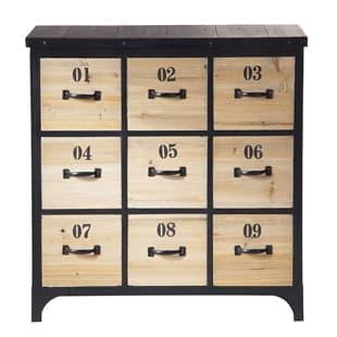 Mobilier industriel meuble cuba two meuble rangement cd dvd - Meuble bois brut pas cher ...