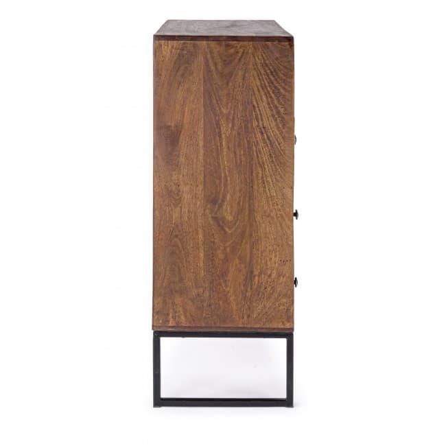 Mobilier industriel meuble meuble 1 porte 4 tiroirs for Meuble porte four
