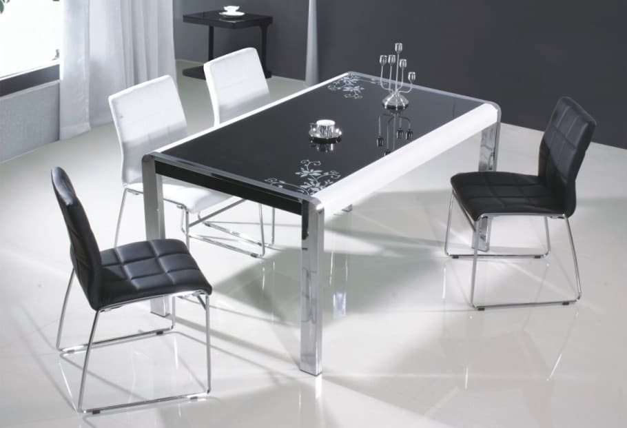 salle a manger table rectangulaire sophia ensemble table 4 chaises. Black Bedroom Furniture Sets. Home Design Ideas