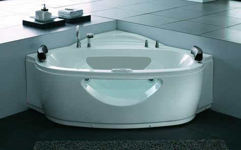 Salle de bain baignoire d 39 angle afilia baignoire d angle 2 places c - Baignoire d angle deux places ...