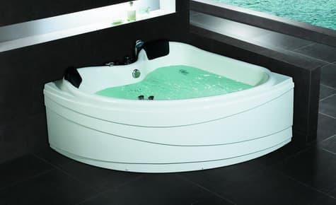 Salle de bain baignoire d 39 angle piola baignoire d 39 angle 2 places contemporaine 150x150x65 for Jacuzzi salle de bain pas cher