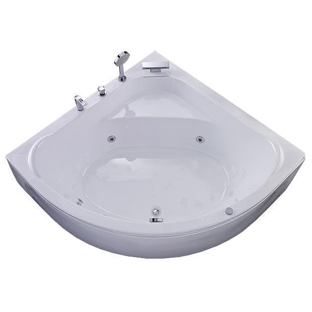 salle de bain baignoire d 39 angle tendance baignoire 140x140 hydromassante. Black Bedroom Furniture Sets. Home Design Ideas