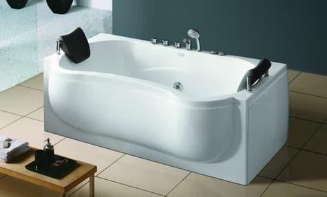 Salle de bain baignoire droite avarua baignoire for Baignoire contemporaine