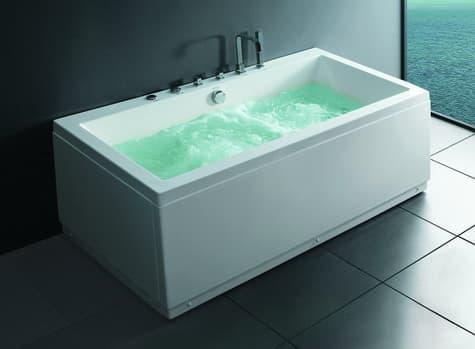 Salle de bain baignoire droite etna baignoire droite - Baignoire contemporaine ...