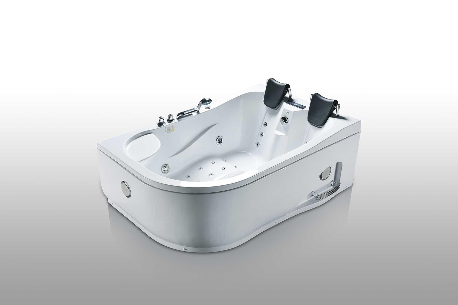 Salle de bain baignoire droite maltus1 baignoire 2 places hydromassante - Test baignoire balneo ...