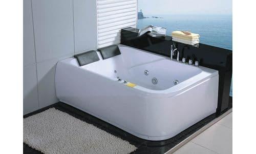 Salle de bain baignoire droite mislata rechauff baignoire 2 places hydr - Baignoire double place ...