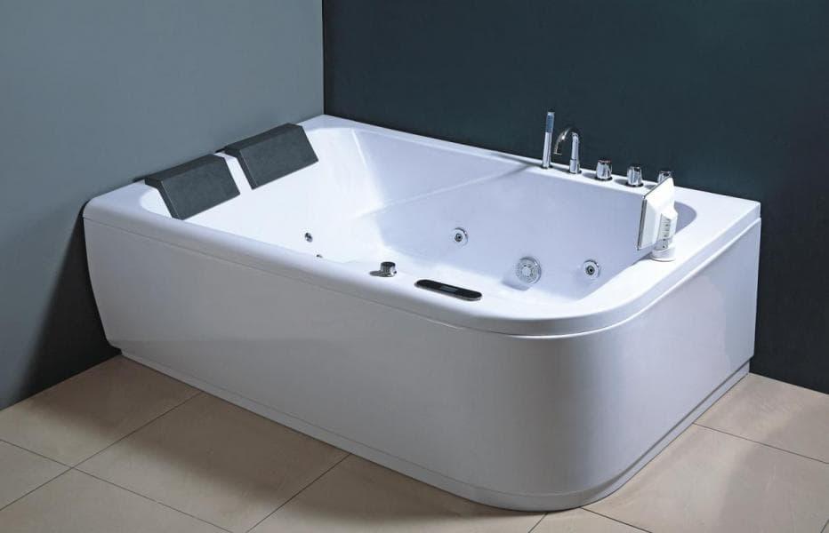 Salle de bain baignoire droite mislata baignoire 2 places toutes option - Baignoire spa 2 places ...