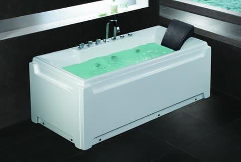 Salle de bain baignoire droite nauru baignoire - Baignoire contemporaine ...