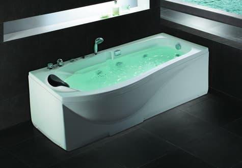 Salle de bain baignoire droite nilu baignoire droite for Baignoire contemporaine design