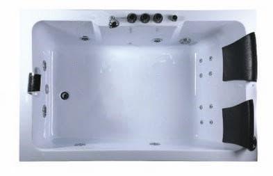 Salle de bain baignoire droite salusa2 baignoire 2 places hydromassante - Baignoire 2 personnes ...