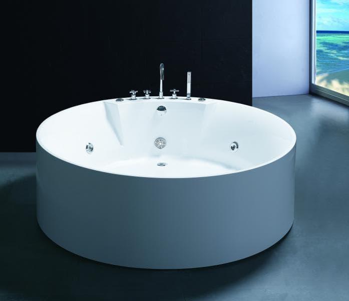 Salle de bain baignoire ilot bagheria baignoire ronde balneotherapie 15 - Colonne de baignoire ilot ...