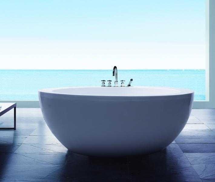 Salle de bain baignoire ilot barcelona baignoire ronde balneotherapie 1 - Baignoire ronde balneo ...