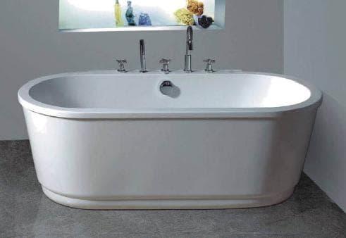Salle de bain baignoire ilot licata baignoire ilot for Baignoire contemporaine