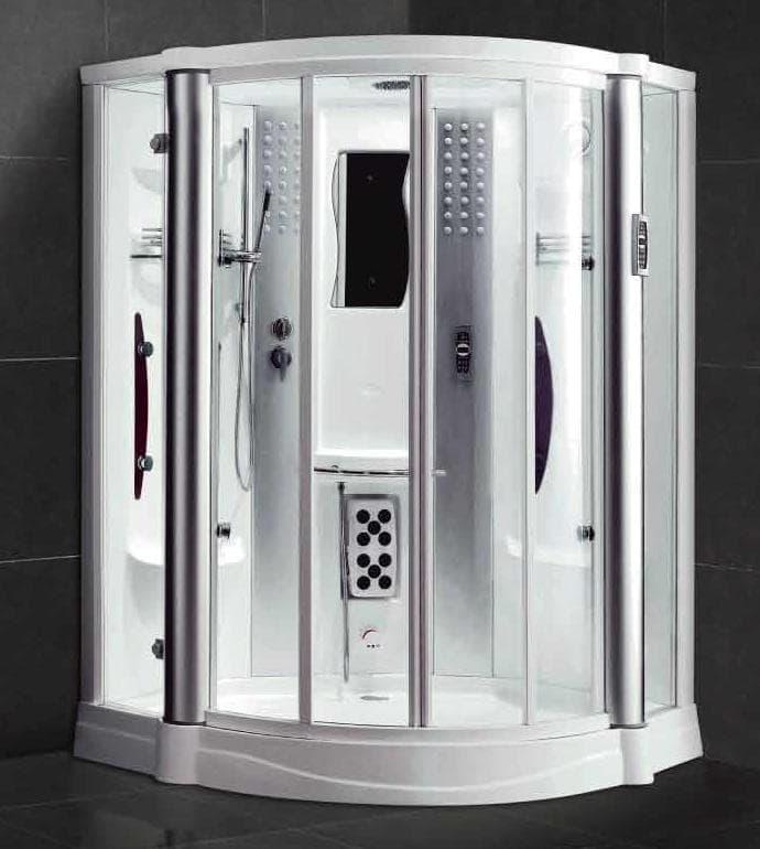 Salle de bain douche hammam acerra hammam douche hydromassante 130x130x220 - Douche sauna hammam pas cher ...