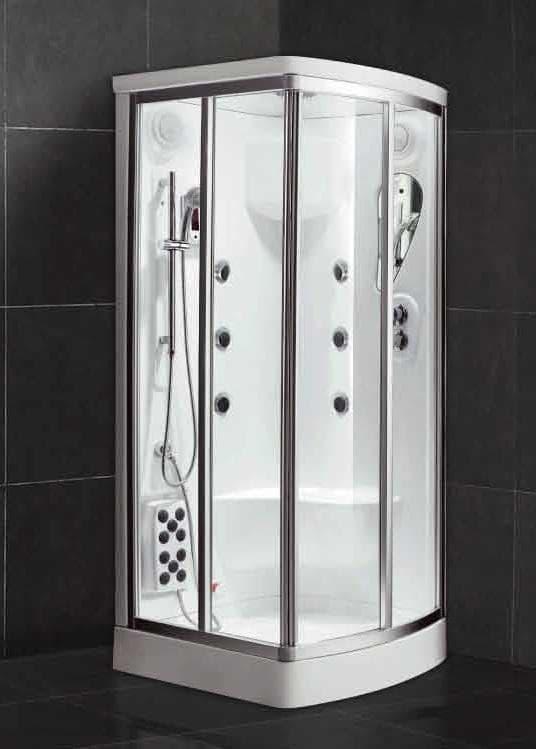 Salle de bain douche hammam anzio hammam douche hydromassante 100x90x220 - Douche sauna hammam pas cher ...