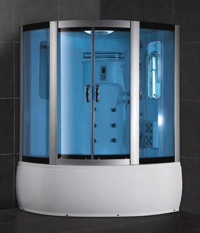 Salle de bain douche hammam avola hammam douche hydromassante 110x110x215 - Douche sauna hammam pas cher ...