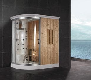 Salle de bain douche hammam brescia hammam sauna douche hydromassante 1 - Douche hammam pas cher ...