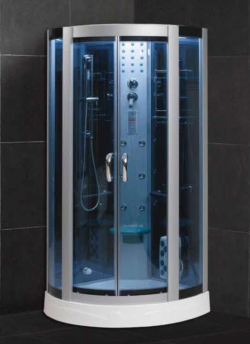 Salle de bain douche hammam chiavari hammam douche hydromassante 90x90x215 - Douche hammam pas cher ...