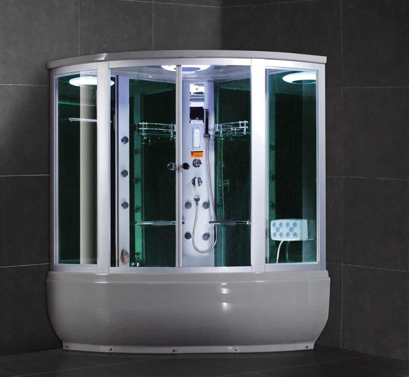 Salle de bain douche hammam turin hammam douche hydromassante 148x148x220 - Baignoire douche hammam ...
