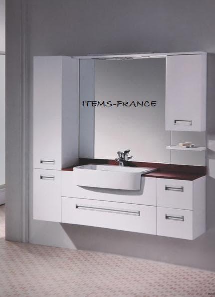Salle de bain meuble italo meuble salle de bain avec - Meuble salle de bain coin ...