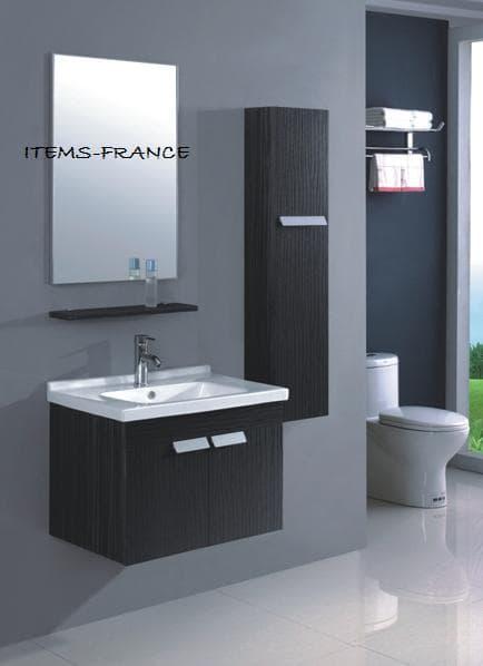Salle de bain meuble katao meuble salle de bain contemporain katao 70x4 - Meuble salle de bain design contemporain ...