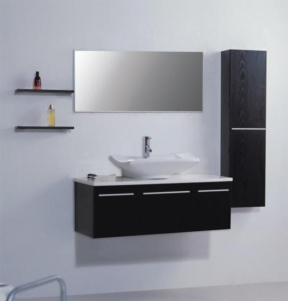 Salle de bain meuble lidano meuble salle de bain contemporain 120x45x60 - Meuble salle de bain contemporain ...