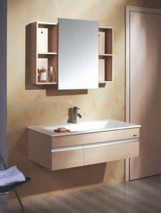 Meuble salle de bain lysita meuble salle de bain contemporain 100x50 - Meuble salle de bain contemporain ...