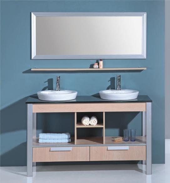 Salle de bain meuble motta meuble salle de bain double vasque sur pieds - Castorama pied de meuble ...