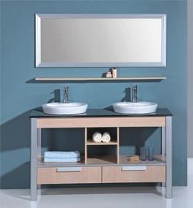 meuble salle de bain motta meuble salle de bain double vasque sur pieds 140x52x82. Black Bedroom Furniture Sets. Home Design Ideas
