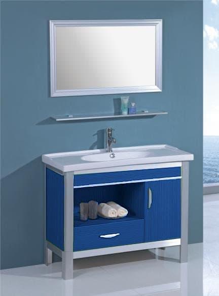 salle de bain meuble palamo bleu meuble salle de bain bleu sur pieds 100x45x80. Black Bedroom Furniture Sets. Home Design Ideas