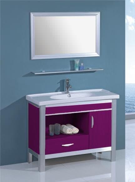Meuble salle de bain mauve for Meuble cuisine mauve