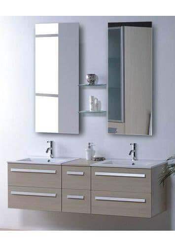 Salle de bain meuble riviera2 beige meuble salle de bain contemporain 1 - Meuble salle de bain design contemporain ...