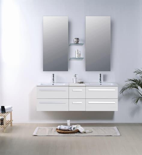 Salle de bain meuble riviera2 beige meuble salle de - Meuble salle de bain contemporain ...