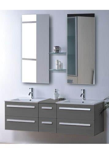 salle de bain meuble riviera2 taupe meuble salle de bain contemporain 150x48 taupe. Black Bedroom Furniture Sets. Home Design Ideas