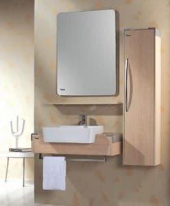 meuble salle de bain tinao meuble salle de bain suspendu avec colonne contemporain 80x48x30. Black Bedroom Furniture Sets. Home Design Ideas