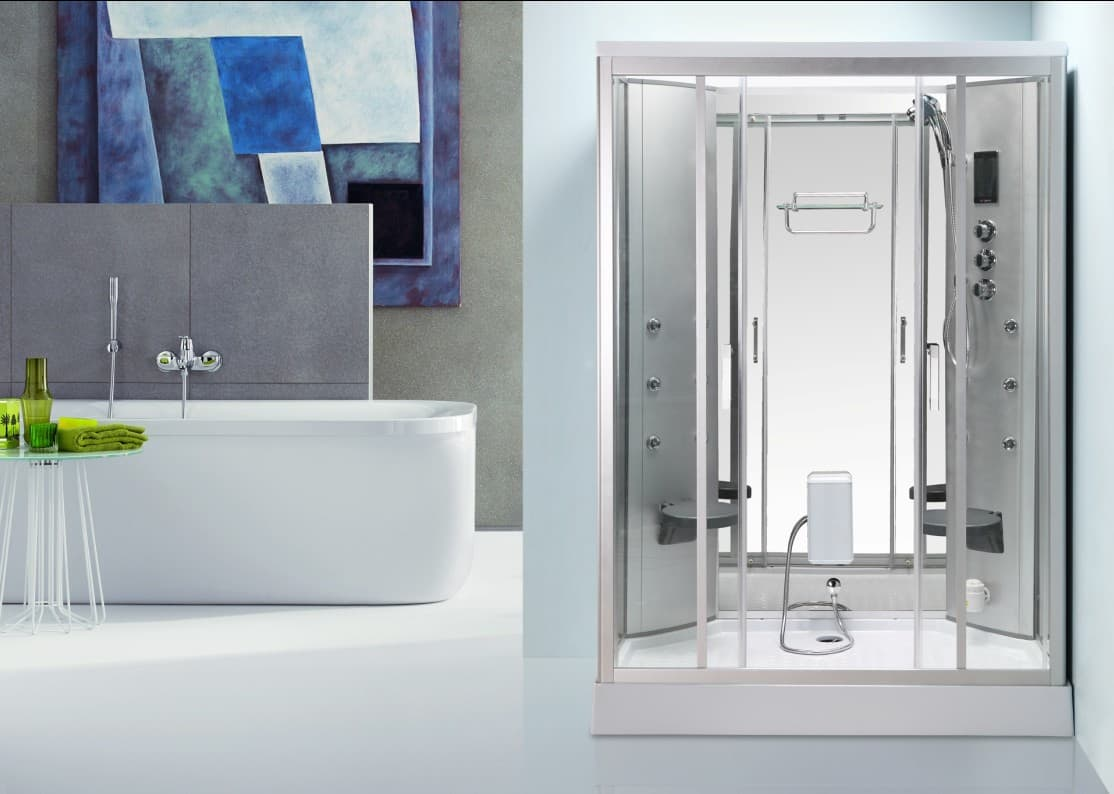 Cabine baignoire douche for Baignoire avec cabine de douche