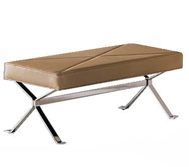 salon banc ben banc cuir 118x45x43. Black Bedroom Furniture Sets. Home Design Ideas