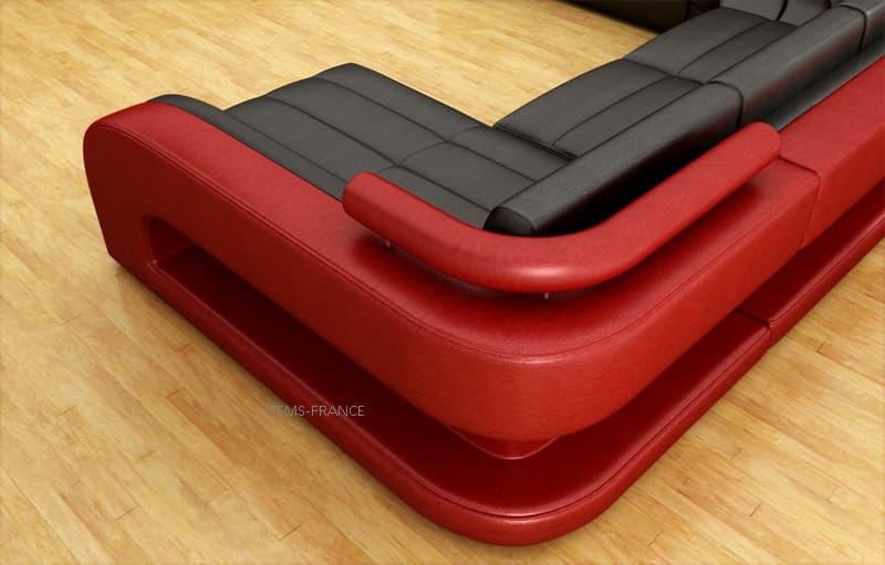 Canape convertible salon arezzo canape d 39 angle en for Canape d angle convertible 5 places