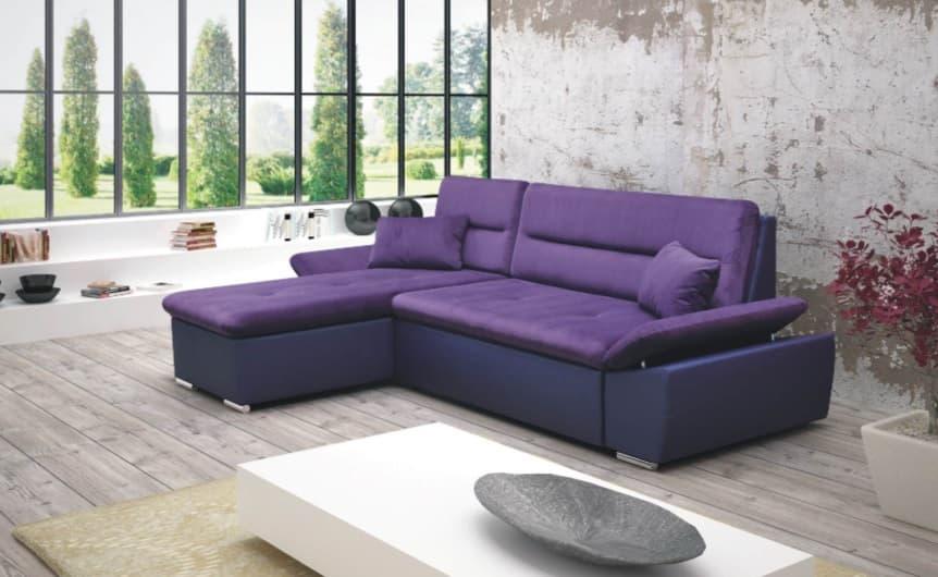 Canape convertible salon latina canape convertible cuir tissus en angle - Canape violet convertible ...