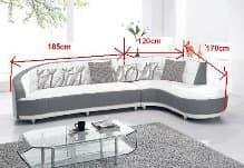 Canape d angle cuir salon design canape contemporain - Canape d angle tissu design pas cher ...