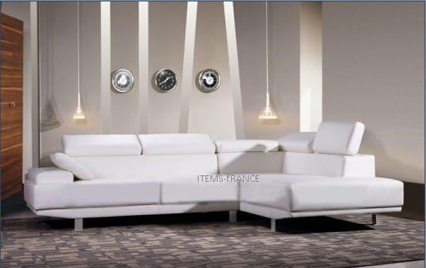 Canape d angle cuir salon foggia canape d 39 angle en - Canape cuir 4 places ...