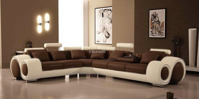 canape d angle cuir salon hawai 3 canape d 39 angle blanc marron en cuir 6 personnes. Black Bedroom Furniture Sets. Home Design Ideas