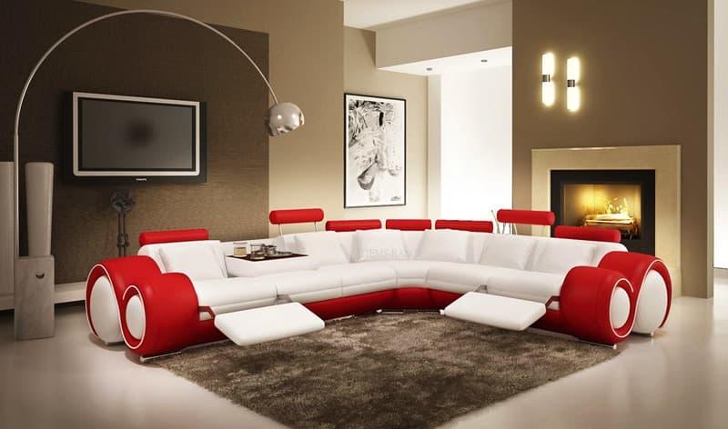 Canape d angle cuir salon hawai 3 canape d 39 angle noir en cuir 6 personnes - Salon canape noir ...