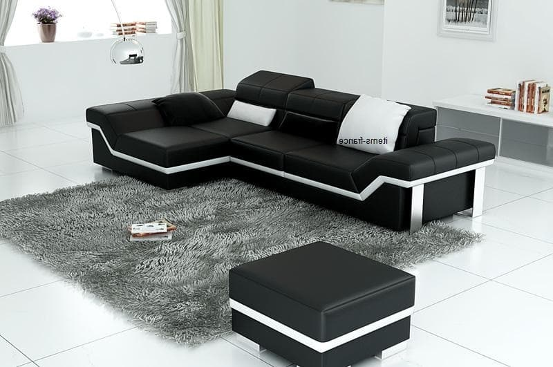 canape d angle cuir salon naples 4 blanc g canape d 39 angle noir en cuir 4 personnes pouf. Black Bedroom Furniture Sets. Home Design Ideas