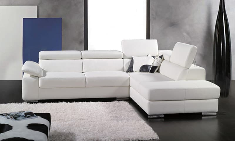 canape d angle cuir salon oviedo blanc canape cuir blanc 5 places 280x230x96. Black Bedroom Furniture Sets. Home Design Ideas