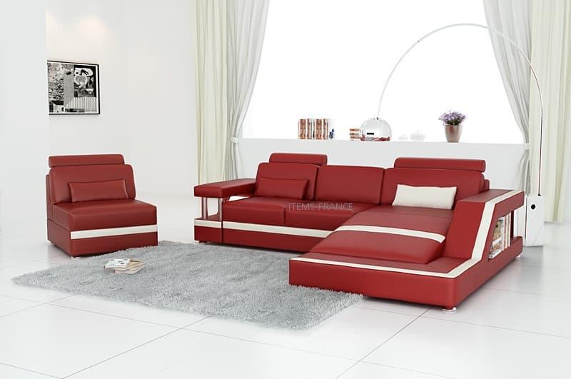 canape d angle cuir salon rimini 3 canape cuir d. Black Bedroom Furniture Sets. Home Design Ideas