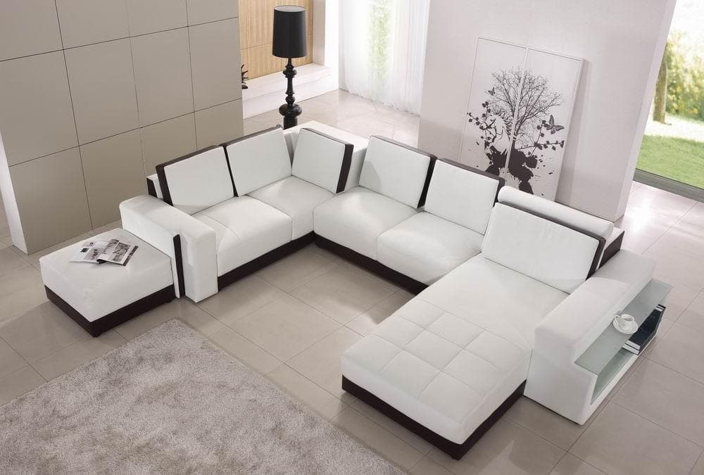 Canape panoramique cuir salon elena stock canape - Canape angle confortable ...
